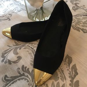 Old Navy black flats with gold point shoe